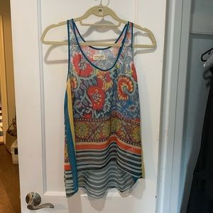 High/low colorful top